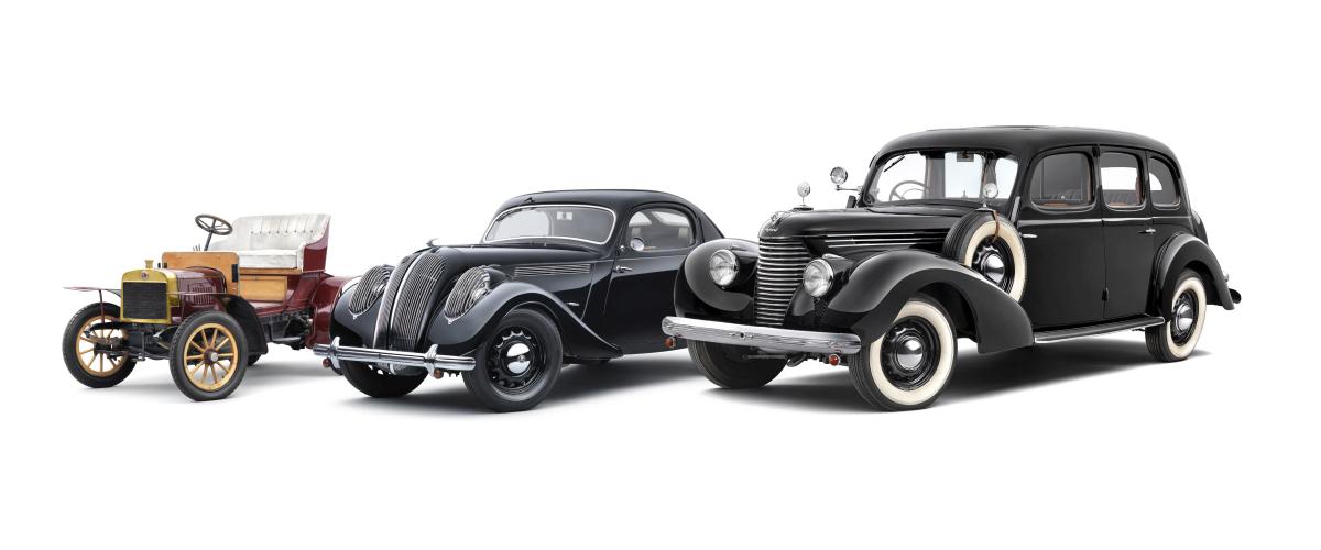 Voiturette A (1905), Popular Monte Carlo (1937), Superb 3000 OHV (1939)